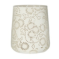 RJR.John Rocha - Designer large resin cutout daisy tea light holder