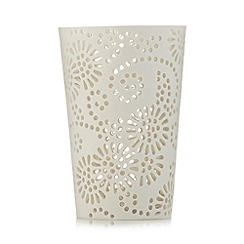 RJR.John Rocha - Designer cream daisy tea light holder
