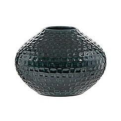 RJR.John Rocha - Designer green waffle textured ceramic bulb vase