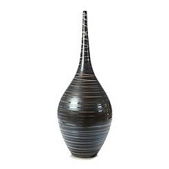 RJR.John Rocha - Designer large ceramic dark grey swirl vase