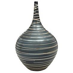 RJR.John Rocha - Designer small ceramic dark grey swirl vase