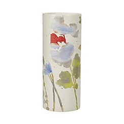 RJR.John Rocha - Designer ceramic ivory floral vase