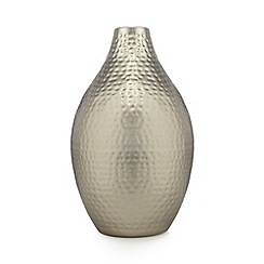 RJR.John Rocha - Designer silver hammered metal medium vase