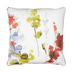 RJR.John Rocha - Designer coral meadow flower print cushion