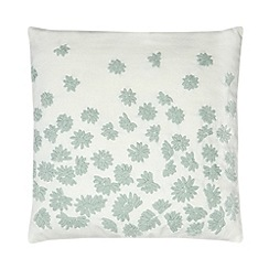 RJR.John Rocha - Designer green scattered flowers cushion