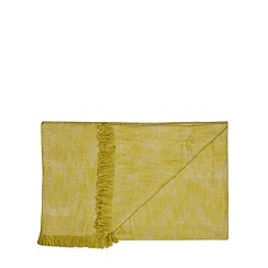 RJR.John Rocha - Designer green textured cotton throw