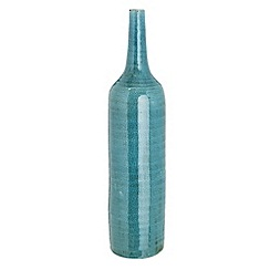 RJR.John Rocha - Designer blue stoneware tall vase
