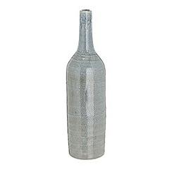 RJR.John Rocha - Designer pale blue stoneware tall vase