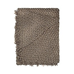 RJR.John Rocha - Grey cable knit throw