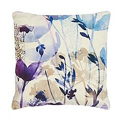 RJR.John Rocha - Purple watercolour floral cushion