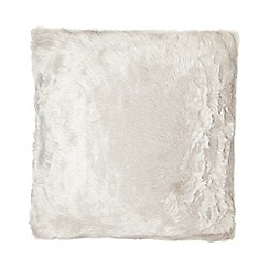 RJR.John Rocha - Grey faux fur cushion
