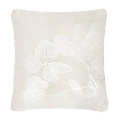 RJR.John Rocha - Grey metallic leaf print cushion