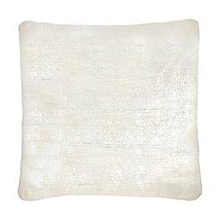 RJR.John Rocha - Silver metallic textured cushion