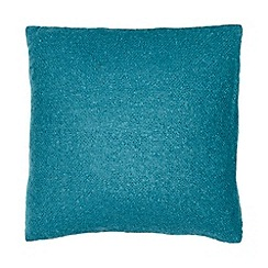 RJR.John Rocha - Teal cosy weave cushion