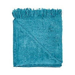 RJR.John Rocha - Turquoise cosy weave throw