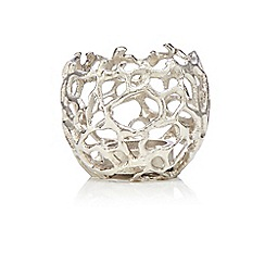 RJR.John Rocha - Silver coral tea light holder