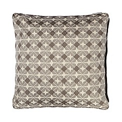 RJR.John Rocha - Grey ikat print cushion