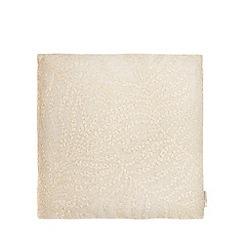 RJR.John Rocha - Grey embroidered leaf cushion