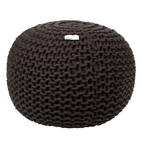 RJR.John Rocha - Dark grey knitted rope pouf