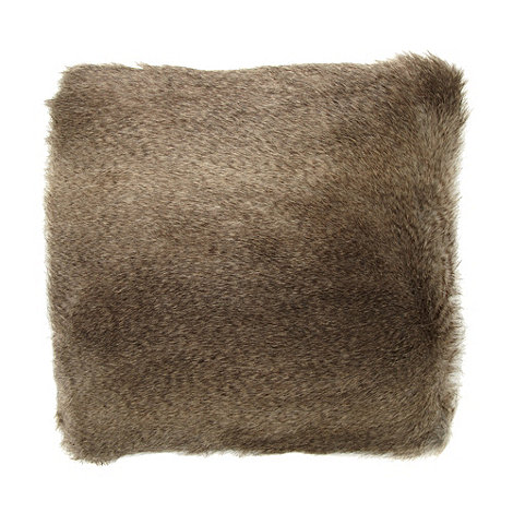 RJR.John Rocha - Designer dark grey faux fur cushion