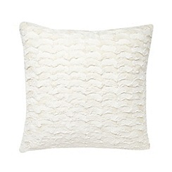 RJR.John Rocha - Designer cream faux fur cushion