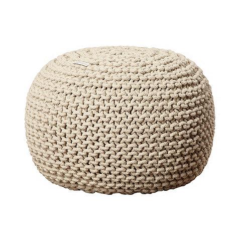 RJR.John Rocha - Designer natural woven knitted pouf