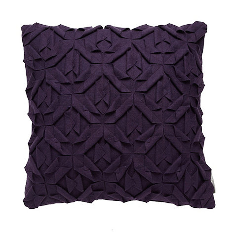 RJR.John Rocha - Designer purple geometric applique cushion