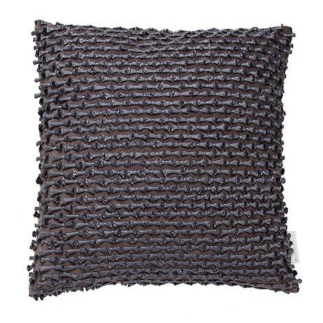 RJR.John Rocha - Designer purple textured bow cushion