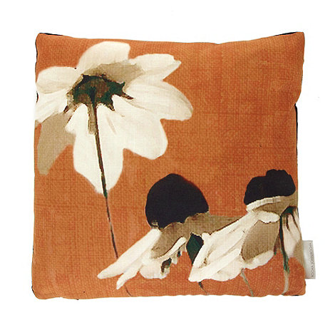 RJR.John Rocha - Designer orange daisy cushion