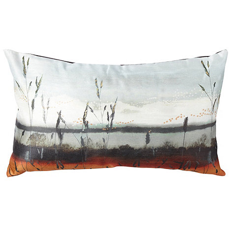 RJR.John Rocha - Designer bright orange sunset cushion