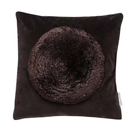 RJR.John Rocha - Designer brown textured circle cushion