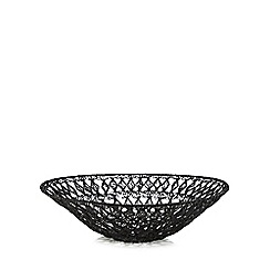 RJR.John Rocha - Black wire bowl