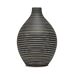 RJR.John Rocha - Dark grey striped bottle vase