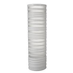 RJR.John Rocha - Tall white stripey glass vase