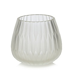 RJR.John Rocha - White frosted tea light holder
