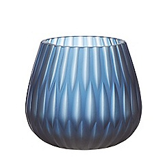RJR.John Rocha - Blue diamond cut tea light holder
