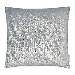 RJR.John Rocha - Silver textured feather filled cushion