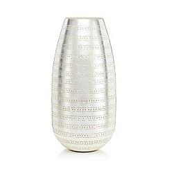 RJR.John Rocha - Large silver punched vase