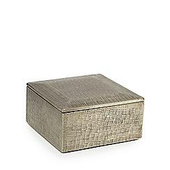 RJR.John Rocha - Silver metal hammered box