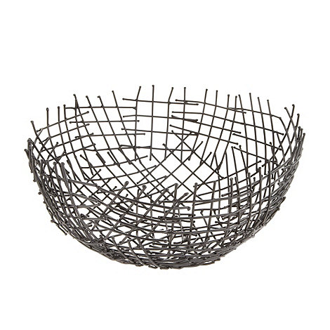 Betty Jackson.Black - Designer black wire bowl