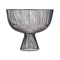 Betty Jackson.Black - Designer black wire footed bowl
