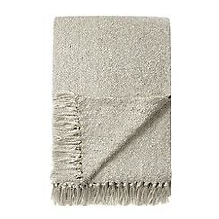 Betty Jackson.Black - Designer natural metallic ribbon throw