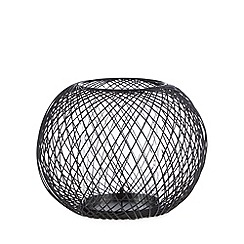 Betty Jackson.Black - Designer black wire ball candle holder