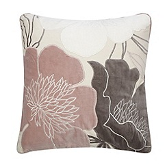 Betty Jackson.Black - Designer pink velvet flower cushion