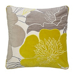 Betty Jackson.Black - Designer lime velvet flower cushion