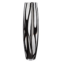Betty Jackson.Black - Designer black tall swirl glass vase