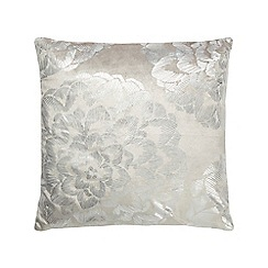 Betty Jackson.Black - Ivory metallic cushion