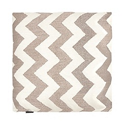 Betty Jackson.Black - Gold chevron textured cushion