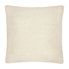 Betty Jackson.Black - Cream chevron textured cushion
