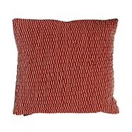 Orange broken lines cushion